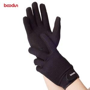 Image 5 - BOODUN Professional Horse Reiten Handschuhe für Männer Frauen Tragen Beständig Gleitschutz Reit Handschuhe Horse Racing Handschuhe Ausrüstung