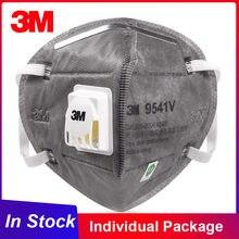 Masque de protection facial, emballage individuel, réutilisable, approuvé, avec Valve de sécurité, FFP2, 3M, KN95, 9541V/9542V, en Stock