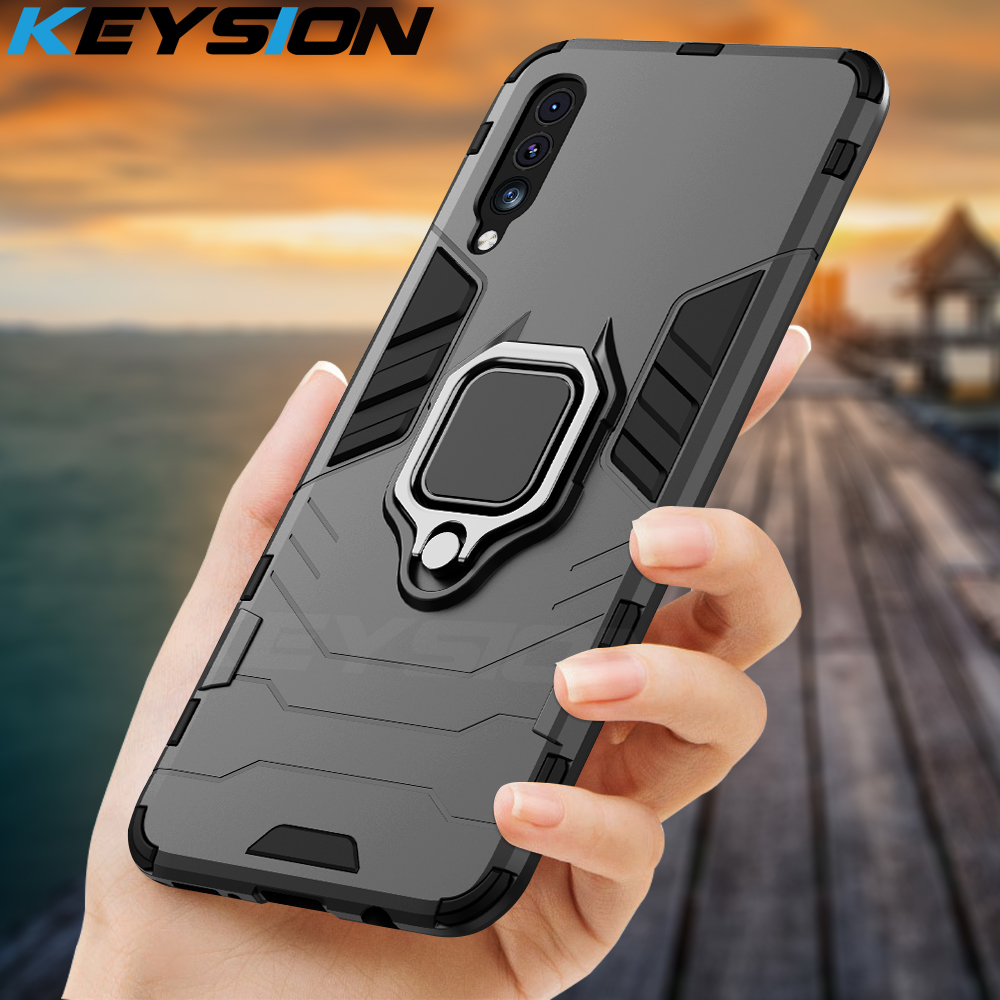KEYSION Shockproof Armor Case For Samsung Galaxy A50 A70 A30 A20 M30 Phone Cover For Samsung A7 2018 M20 A40 A50s A30s A20s A10s