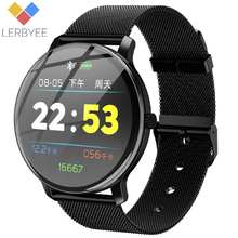 Lerbyee Fitness Tracker R88 Heart Rate Monitor Waterproof IP67 Smart Bracelet Call Reminder Sleep Mirror Screen Sport Band Hot Sale Men Women Watch Black for iPhone Xiaomi Huawei
