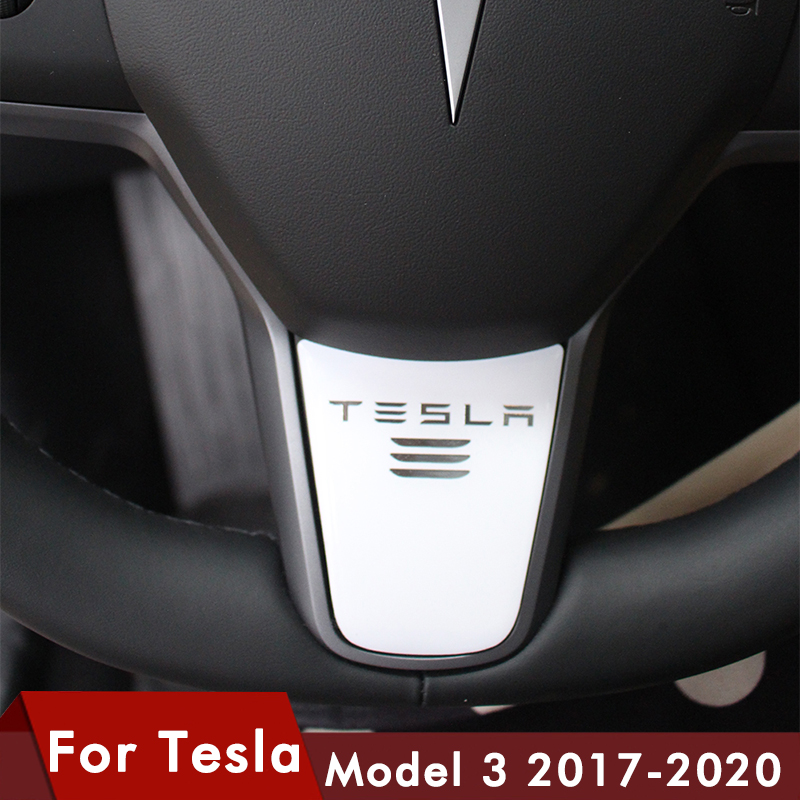 Styling Car Steering Wheel Decoration Cover Sporty Modification Sticker Accessories For Tesla Model 3