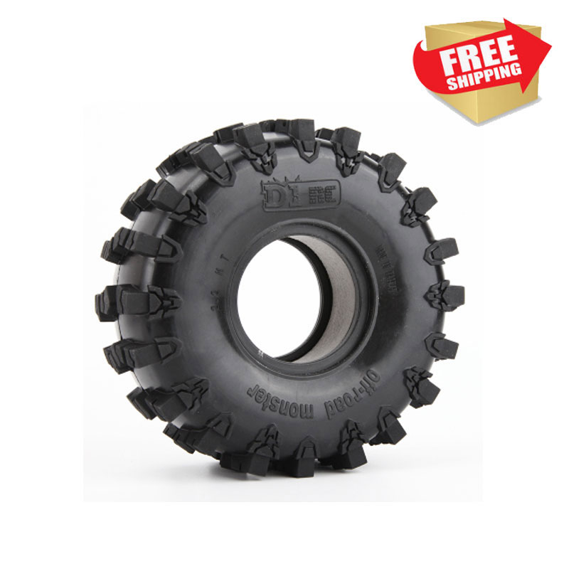 RC 4 pcs Super Grip Two-stage Sponge RC CRAWLER CAR 2.2 Inch RC Thick Wheel Tires Axial 90018 90048 90045 90031 Wheel Tires 1:8