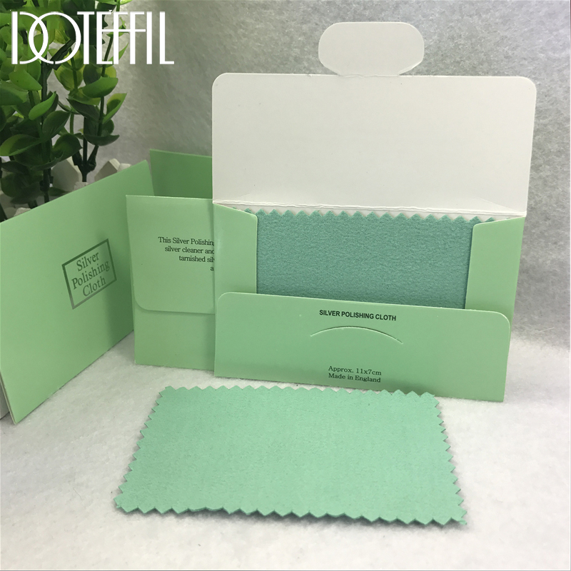 DOTEFFIL 20pcs 925 Sterling silver Jewelry Cleaning Cloth Silver Polishing Cloth 11x7cm Women 925 Silver Jewelry Cleaning Cloth