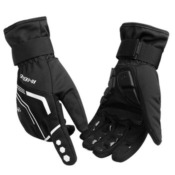 INBIKE Winter Cycling Gloves Touch Screen MTB Bike Gloves Sport Shockproof Full Finger Reflective Winter Bicycle Glove For Men