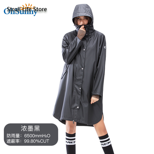 Long Adult Outdoor Rain Coat Full Body Cover Hiking Waterproof Black Rain Coat Jacket Travel Men and Women rain Poncho Coat Gift 5