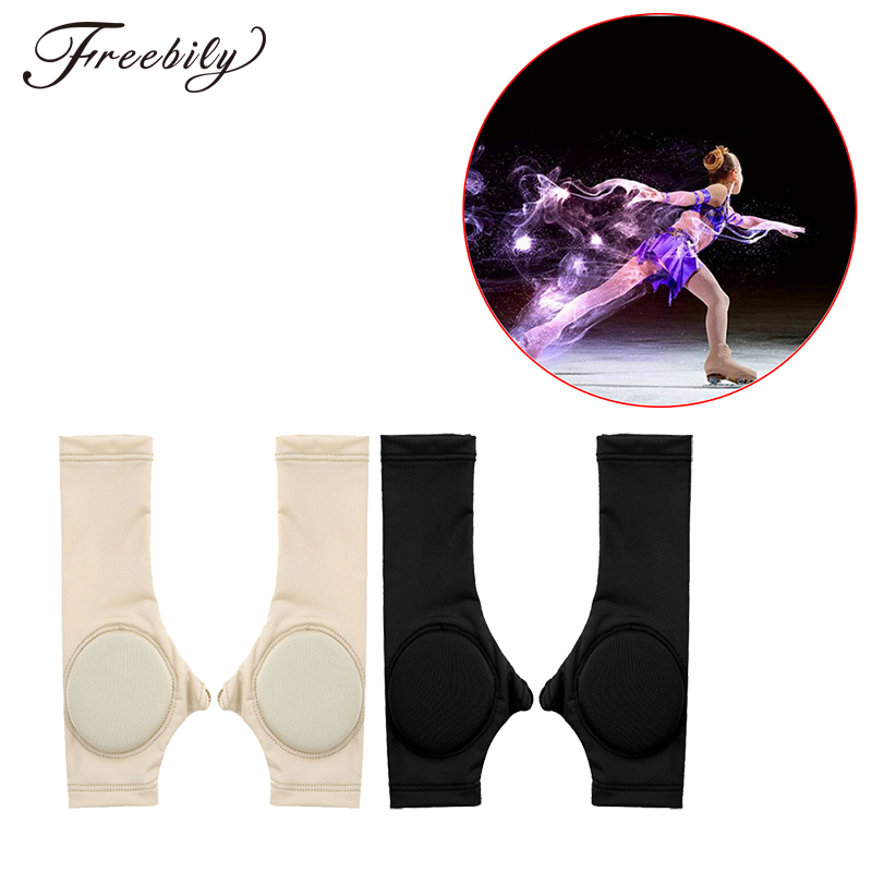 Unisex Adult Kids Children Figure Ice Skating Safety Gloves Performance Competition Skating Palm Hand Protective Pad Covers