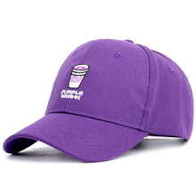 19 men and women spring new ins drink cup spine baseball cap cartoon purple duck tongue young couple