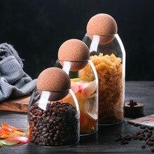 Borosilicate Transparent Lead-Free Glass Sealed Can Storage Tank Grains Storage Jar Creative Cork Tea Containers
