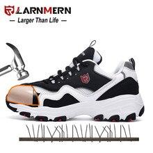 Larnmern 2020 notícias sapatos de segurança s3 src proteção profissional confortável respirável leve dedo do pé de aço anti-unhas sapatos de trabalho