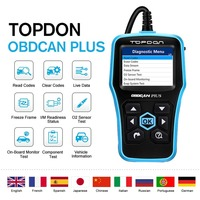 TOPDON OBDCAN PLUS 2.0 OBD2 Scanner Car Diagnostic Tool Auto Code Reader Graphical Display DTC Lookup Turn off MIL Prints Data
