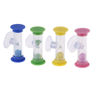 2 Minutes MiNi Glass Sand Clock For Teeth Gadget Toothbrush Swivel Sand Timer Shower Timer Multicolor Hourglass 1Pcs(China)