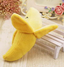 Funny Dog Puppy Chew Toy Squeaky Plush Sound Cute Fruits Banana Design Toys Hondenspeelgoed Pluche New 2020(China)