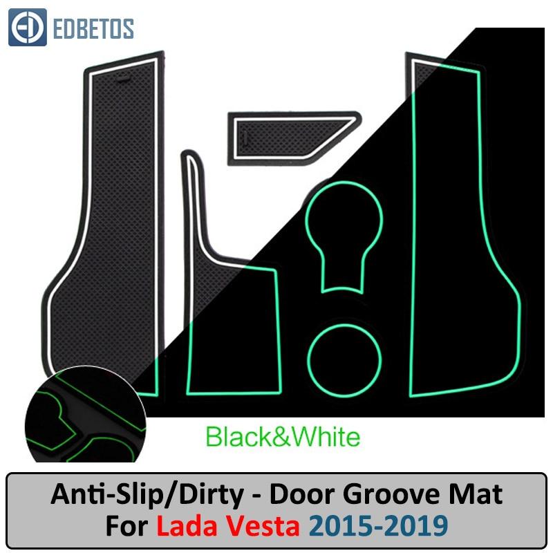 Puerta autom/ática Groove coj/ín de accesorios Size : White antideslizante de coche Accesorios Interior Almacenamiento de goma esteras for Nissan Qashqai 2019