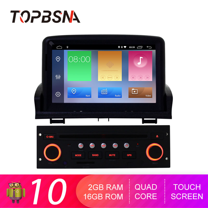TOPBSNA Android 10 <font><b>Car</b></font> DVD Player For <font><b>Peugeot</b></font> <font><b>307</b></font> 2007-2011 GPS navigation multimedia tape recorder 1 din <font><b>Car</b></font> <font><b>radio</b></font> Stereo WIFI image