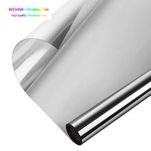 0.5*3 m Window Heat Control Film Anti-UV One Way Mirror Privacy Self-adhesive Glass Tint for Home and Office Silver