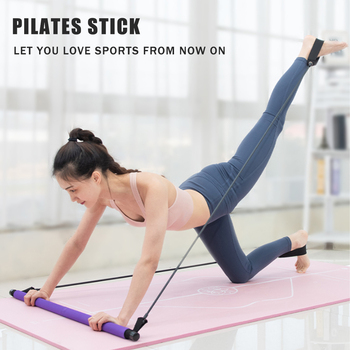 Thicken Pilates Exercise Stick Toning Body Abdominal Resistance Bands Rope Puller Bar Fitness Home Yoga Gym Body Workout manila hemp 1pc 5cmx12meter 2 x 40ft battle rope exercise batting ropes gym muscle toning metabolic workout