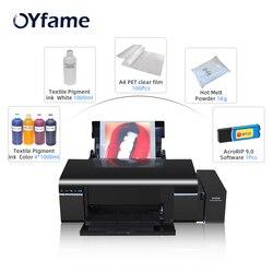 OYfame A4 Size L805 DTF Print Direct Trasnfer Flim Print For All Farbic Print DTF Printing Machine For dark light T -shirt Print