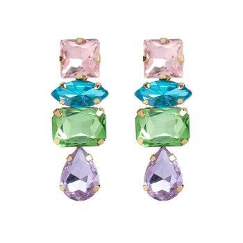 Rhinestone Water Drop Dangle Earrings 6
