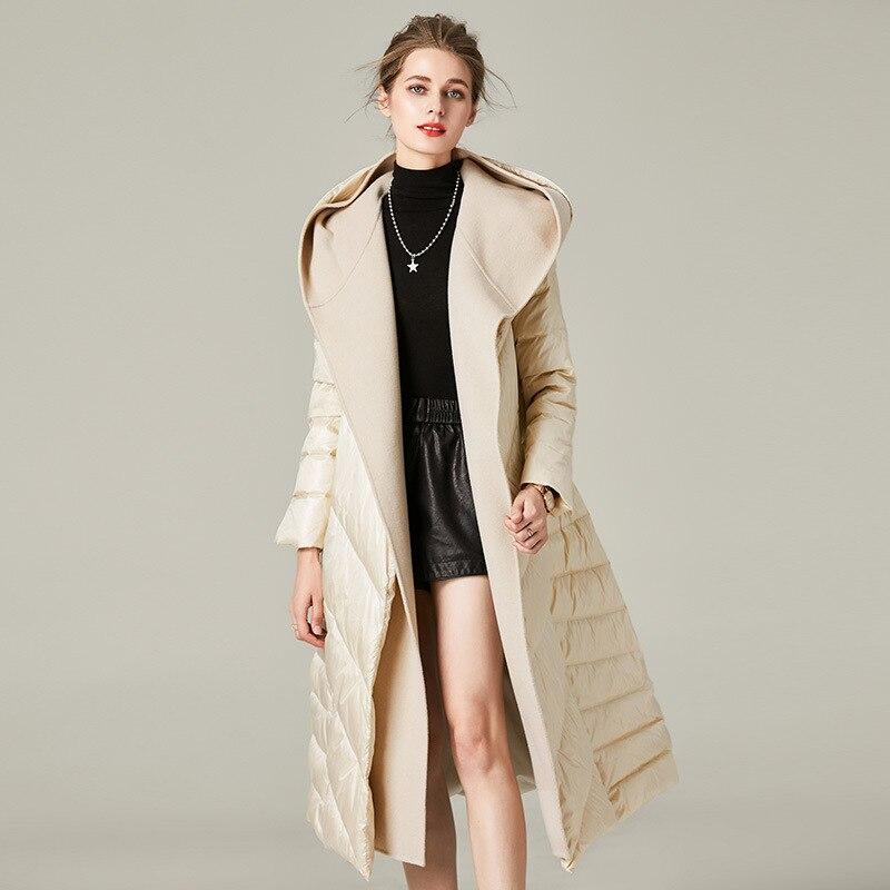 Autumn Winter Coat Women Clothes White Duck Down Jacket Warm Long Coat Parka Outwear Plus Size Ropa Mujer ZT5000