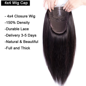 Image 3 - Sapphire 4x4 Lace Closure Wig  Straight Pre Plucked Human Hair Wigs Bleached Knots Brazilian 13x4 Lace Front Wig For Women