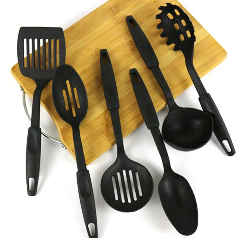 6Pcs/Lot Heat Resistant Nylon Cookware Set Non-stick Cooking Tools Kitchen Baking Kit Utensils Spoon Accessories