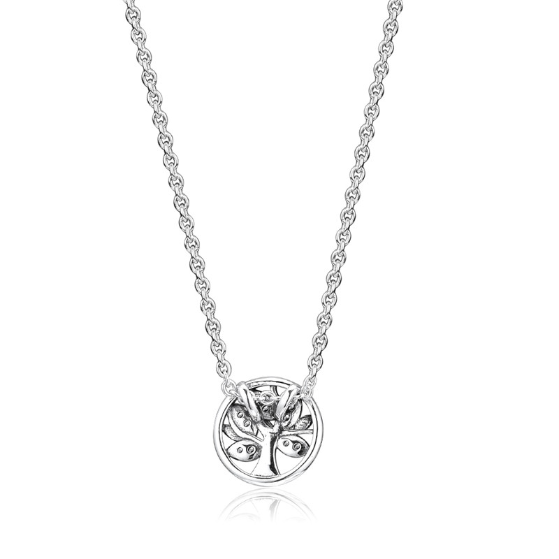 Original Necklace Choker Chain Jewelry 925 Sterling Silver Tree of Life Necklaces for Women collares de moda kolye bijoux femme in Necklaces from Jewelry Accessories