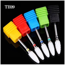 1Pc Ceramic Nail Drill Bit Burr Manicure Bits Corn type Ceramic Cutter Manicure Rotary Electric Nail File Drill Accessory Bit TH недорого