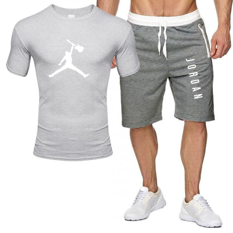 2piece set men outfits jordan 23 t-shirt shorts summer short set tracksuit men sport suit jogging sweatsuit basketball jersey 5