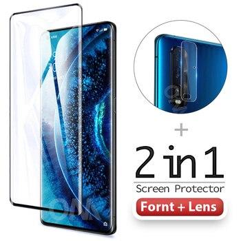 Перейти на Алиэкспресс и купить 2 в 1 3D Защитное стекло для Oppo Find X2 / Pro / Neo / Lite Защитная пленка для объектива камеры закаленное стекло Oppo Find X2 Pro