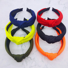 Free shipping Waffle hairbands ins wide girls neon