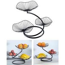 Assiette de fruits nordique créative, salon moderne, trois fer à repasser Simple multicouche couche de fruits, Plat S4M8 1 pièce