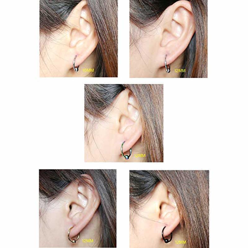 Lip Eyebrow Tragus Earrings Unisex CBR Piercings Captive Bead Rings Nose Piercing Ear Cartilage Rings Earring Piercing  Jewelry