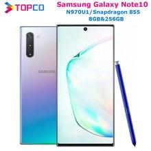 Samsung – téléphone portable Galaxy Note 10 N970U1 Note 10, Snapdragon 855 Octa Core, 6.3 pouces, Triple caméra double 12mp et 16mp, 8 go et 256 go, NFC, Original