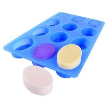 Nicole Silicone Soap Mold 12-Cavity Ellipse Handmade Swirl Making Tool