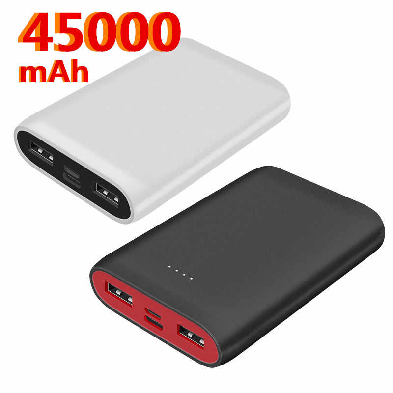 Tragbare Mini 45000 MAh Power Bank Für Alle Handy Power Bank Pover Bank Ladegerät 2 USB Ports Externe Batterie poverbank