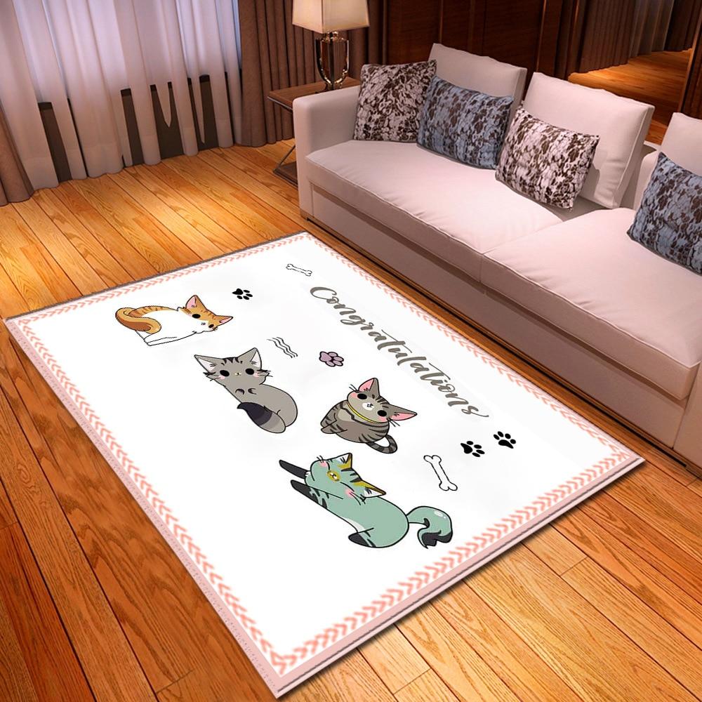 Nordic Kids Bedroom Play Area Rugs Cartoon Child Carpets For Living Room Baby Room Crawl Floor Mats Children's Christmas Gift