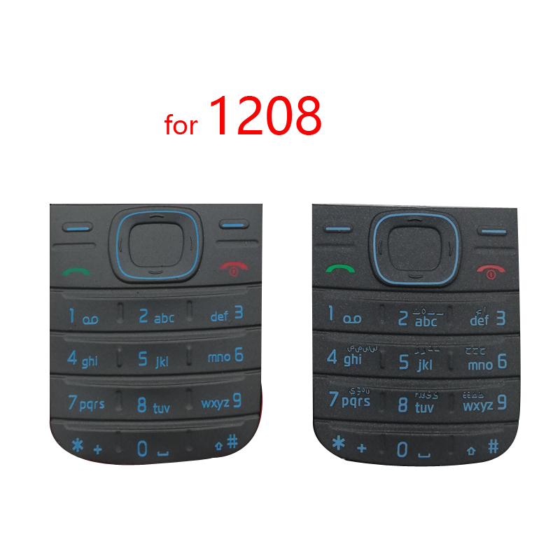 <font><b>Housing</b></font> Main Keyboards English/Russian/Arabic/Hebrew Keypads Cover Case Buttons For <font><b>Nokia</b></font> <font><b>1208</b></font> image