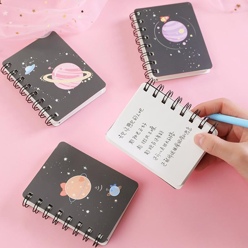 Kawaii Plannet Ring Binder Sketchbook Mini Spiral Notebook A7 Agenda 2020 Cute Diary Book Korean Stationery School Supplies