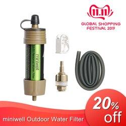 Miniwell esporte ao ar livre filtro de água pessoal bom para viagens e mochila