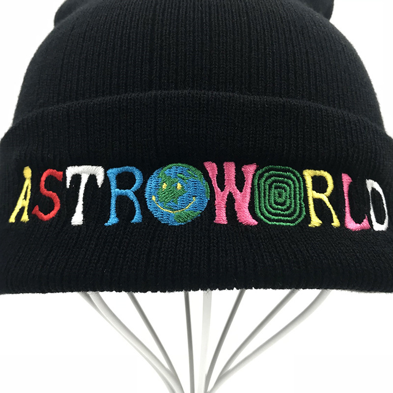Beanie Hat Letters Embroidered Fall Winter Warm Wool Cap Knitted Hats for Women Men Beanies