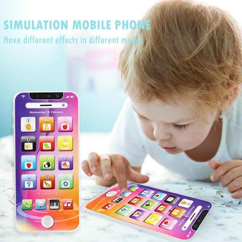 Máquina Inteligente táctil de educación temprana teléfono móvil multifunción teclado sensibilidad forma música rompecabezas juguete 12,5X6X1,5 CM