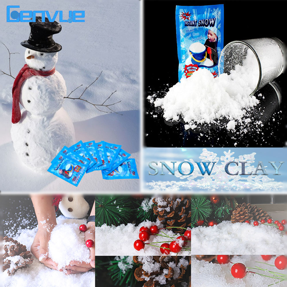 24Pcs Magic Snow Clay Modeling For Charms Slime Accessories Additives Air Dry Clay Soft Lizun DIY Fluffy Slime Supplies Toys Kit