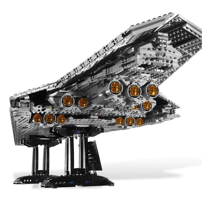 New 05028 Lepining  Star Wars Executor Super Star Destroyer Model Building Kit Block Bricks Toys Kids Gifts 75190 75912 10021