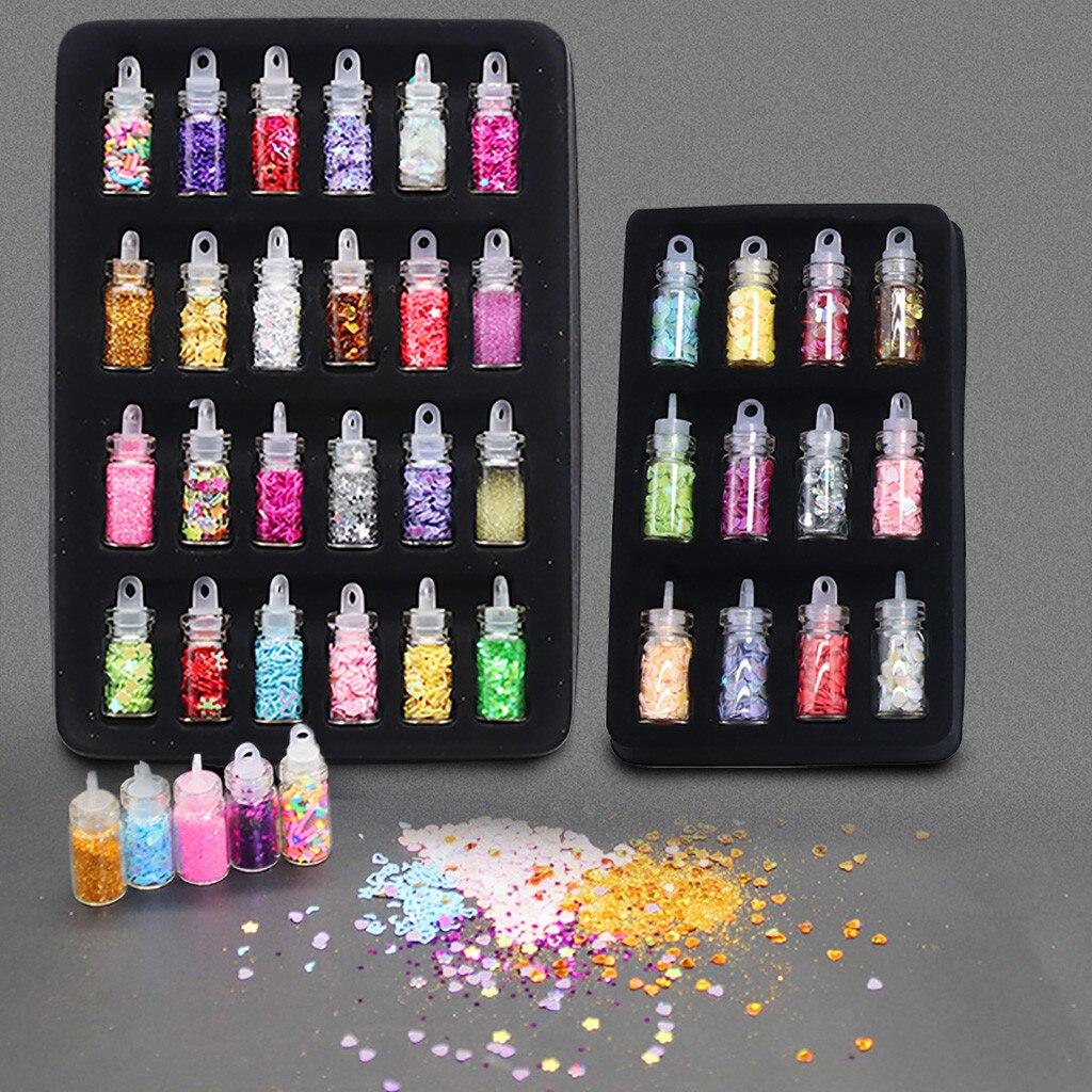 12/24Pcs Sequins/Glitter Filler Soft Slime Toys For Children Mud DIY Kit