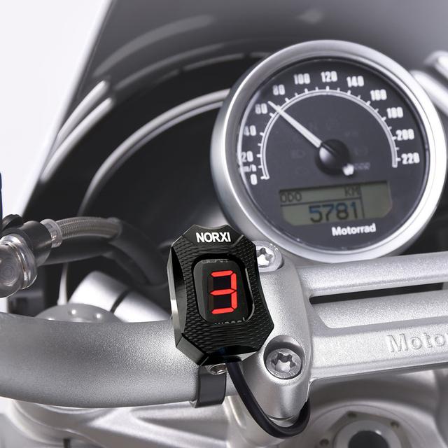 Motorcycle Gear Indicator For Ducati Cafe Racer Monster 696 796 1100  Scrambler 400 Ecu Plug Mount Speed Gear Display 1-6 Level