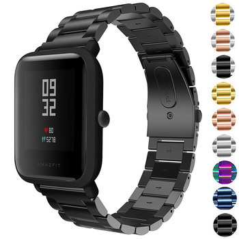 20MM Stainless Steel Strap For Xiaomi Huami Amazfit Bip S/Bip Youth Lite Smart Watch Band Replaceable Straps For Amazfit GTS