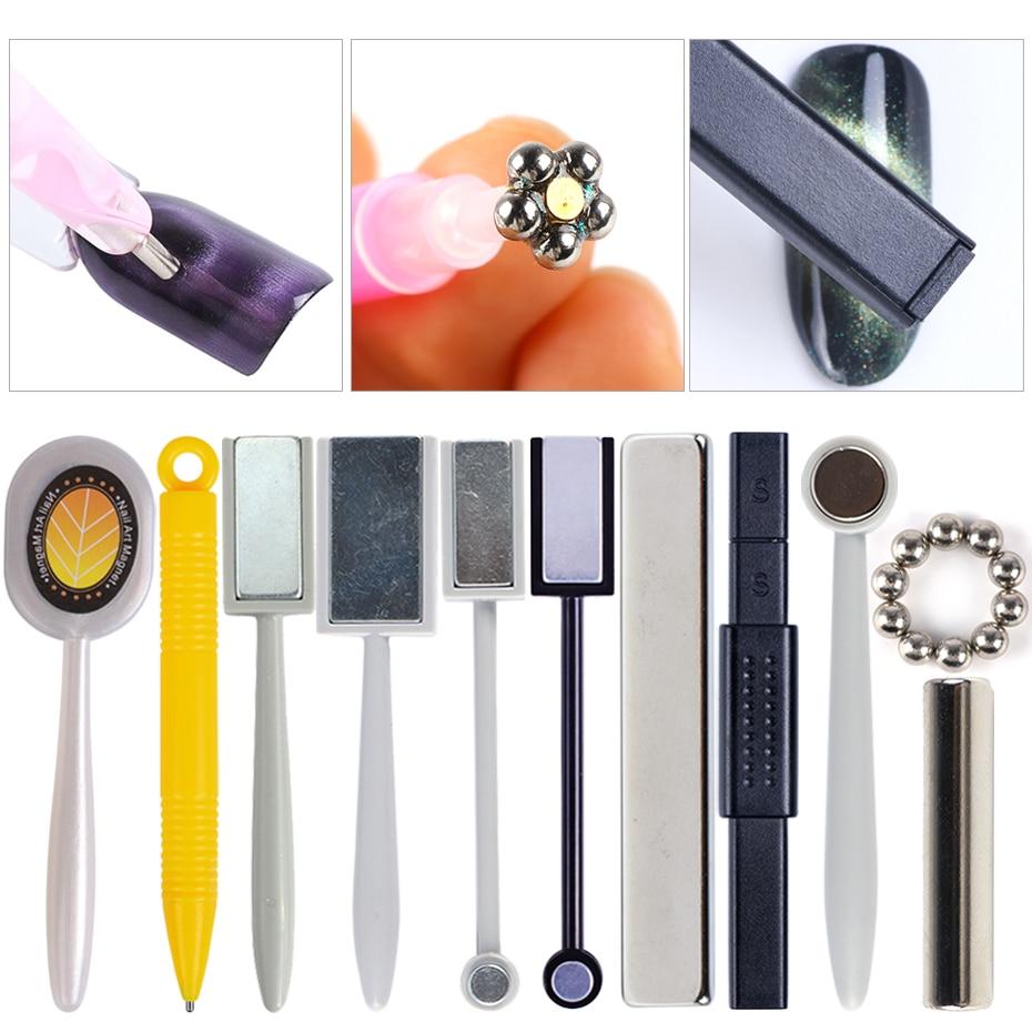 1pcs Nail Art Magnet Stick Cat Eyes Effect Magnet For UV Painting Gel Nail Polish 3D Stripes Line Designs Nail Art Tools JI1612