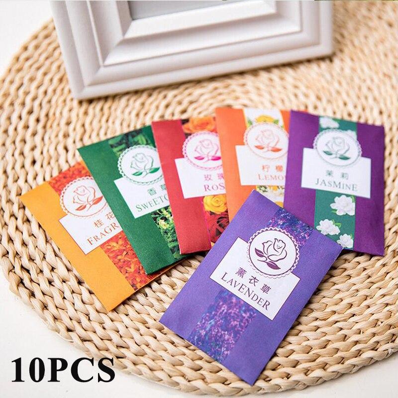 10pcs Fragrance Bag Cabinet Drawer Closet Sachet Air Freshening Paper Bag Fragrance Scented Pocket Incense