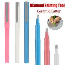 5d diy pintura diamante cortador de papel caneta em forma de cortador de cerâmica perfeitamente pintura acessórios bordado ponto cruz artesanato diy