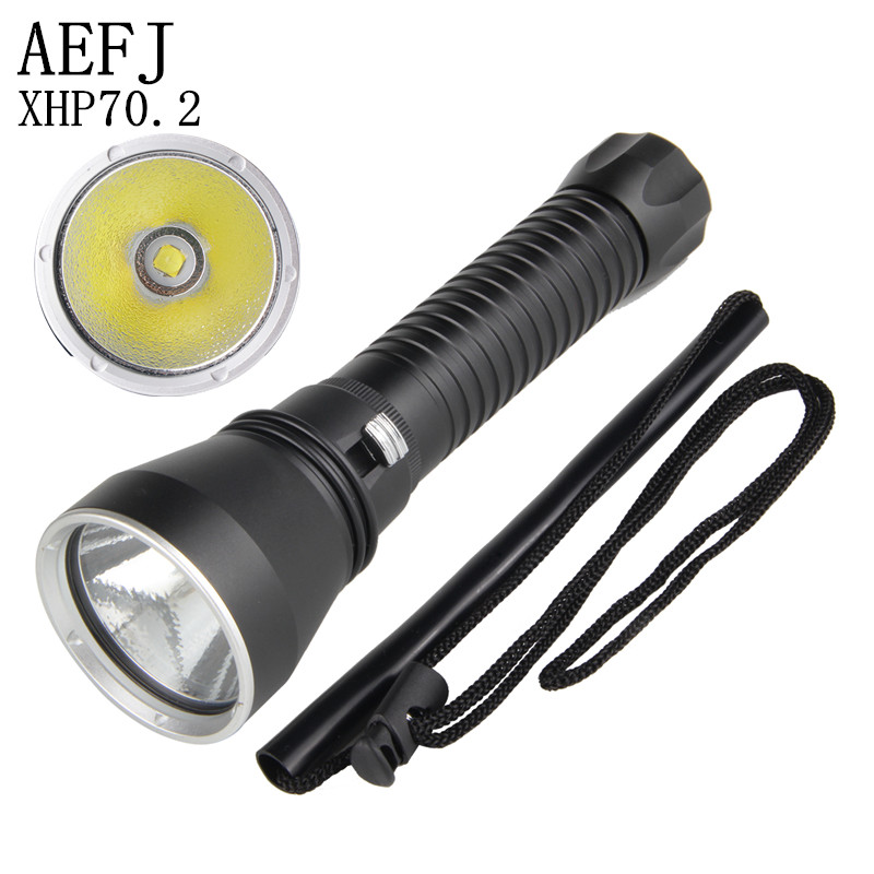 XHP70 LED Yellow/White Light 4000 Lumens Diving Flashlight 26650 Torch Underwater 100M Xhp70.2 Spearfishing Led Diving Lamp